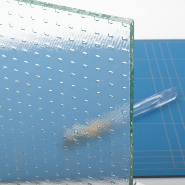 Opdekdeur van master-carre glas