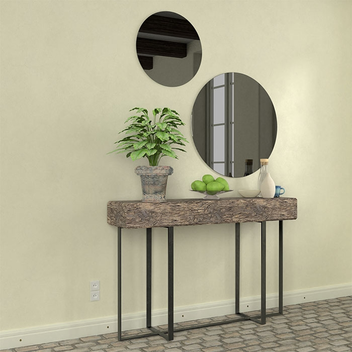 Ronde spiegel grijs 6mm