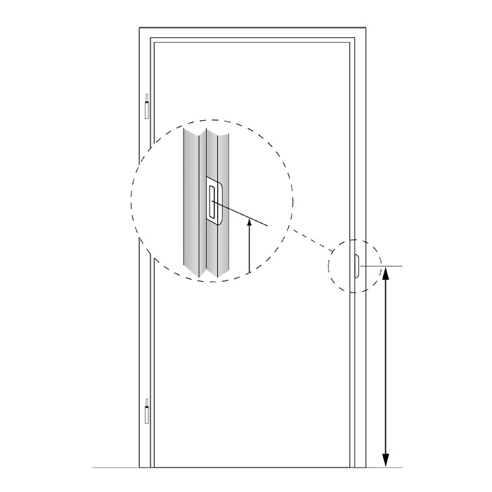 Stompe deur XL van chinchilla glas
