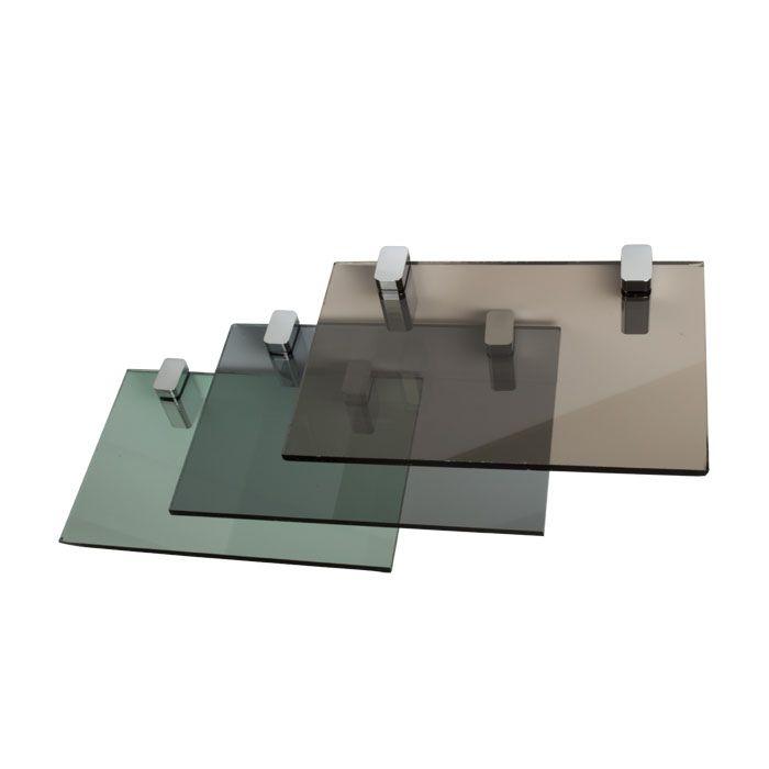 Gekleurd glas grijs 8mm