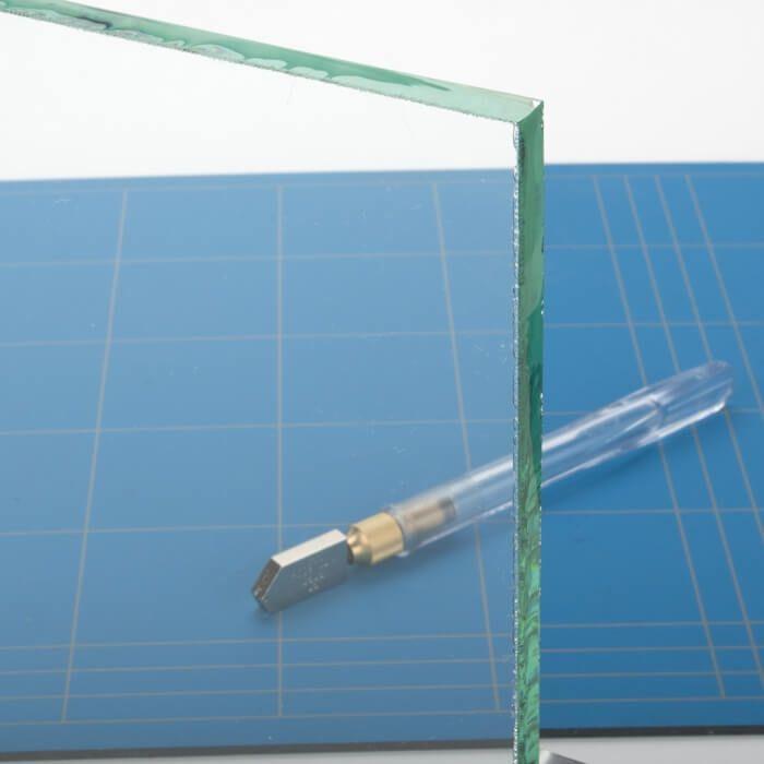 Rond glazen tafelblad helder glas