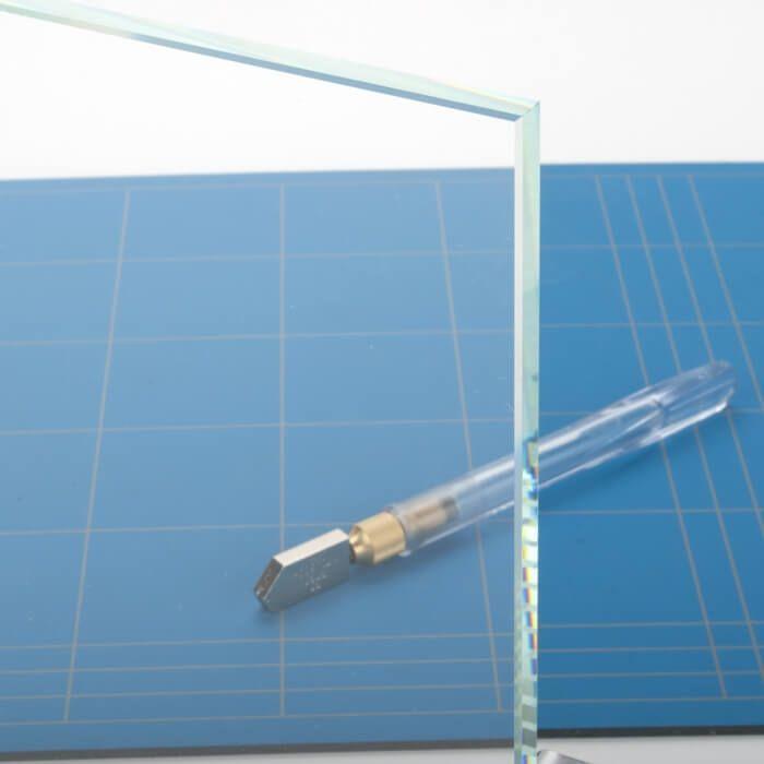 Rond glazen tafelblad extra helder glas