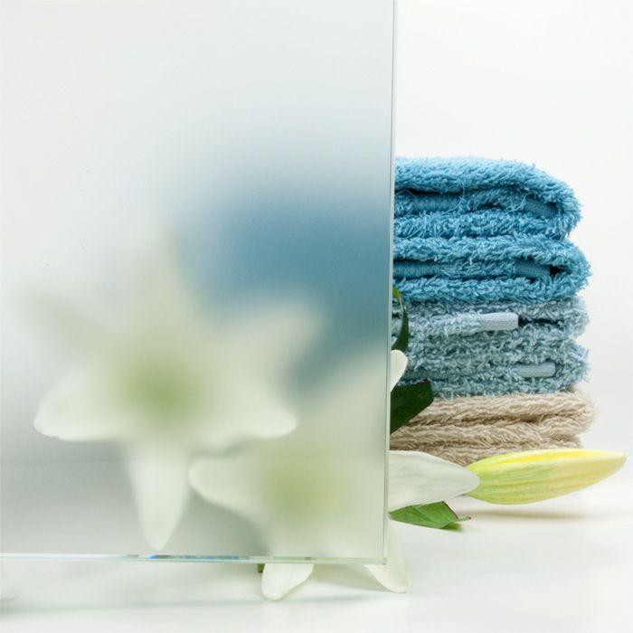 Luxe douchewand op maat van matglas