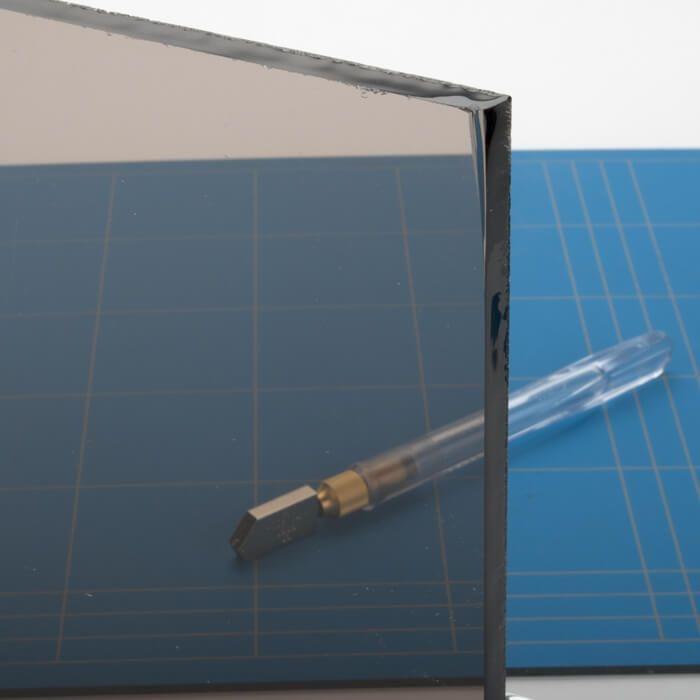 Gekleurd glas brons 6mm