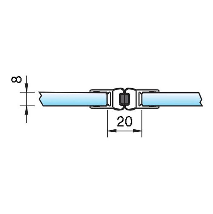 Zwarte magneetstrip in lijn dubbelwerkend