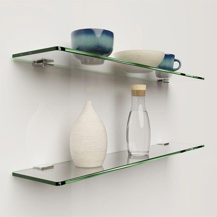 Glazen legplank  helder glas