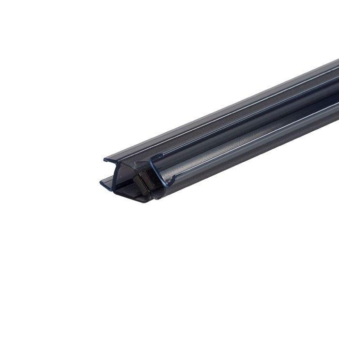 Zwarte magneetstrip met 135º hoek enkelwerkend