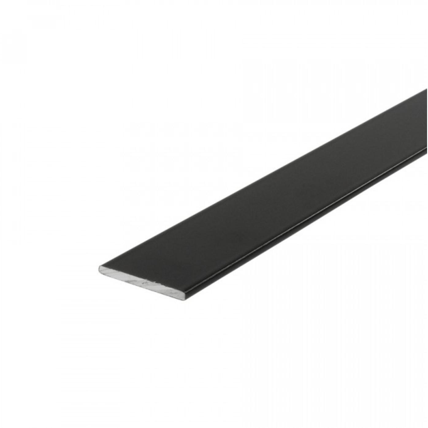 Zwarte platte strip voor steel look deur