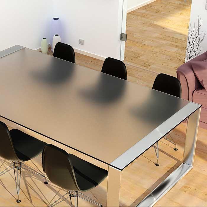 Glazen tafelblad mat glas