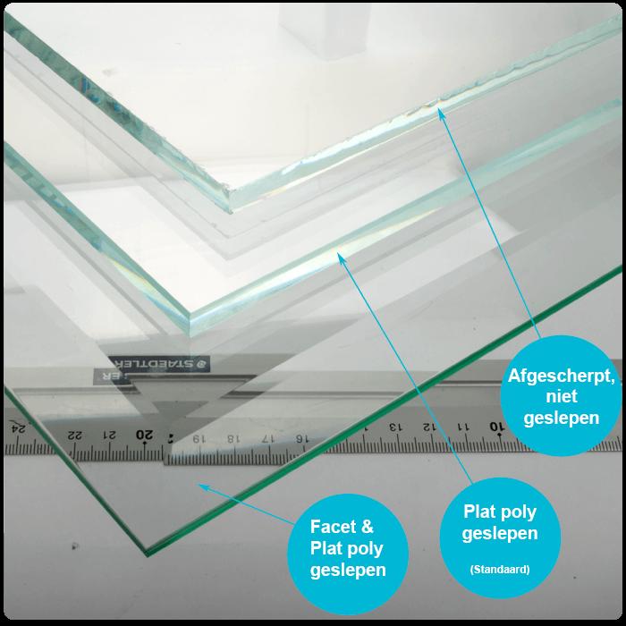 Rond glazen tafelblad mat glas